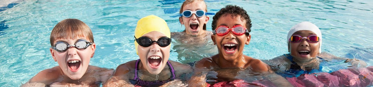 Photo of kids in a swimming pool